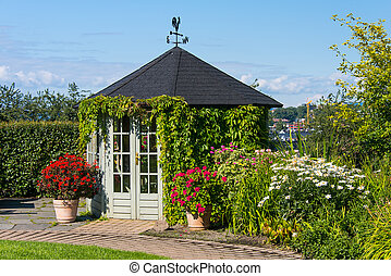 Gazebo in botanical garden