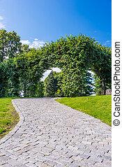 Path in botanical garden
