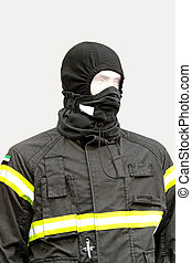 Protective clothing - Black balaclava and protective jacket...