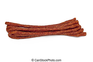 Sausage isolated on the white background