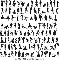 a variety of interesting silhouette - more than 100...
