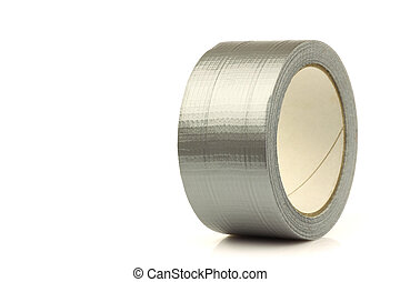 Roll of gaffer tape duct tape on a white background