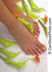 Spa Treatment - Spa treatment with beautiful lilies and