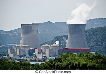 Nuclear power plant - Nuclear plant generating electricity...