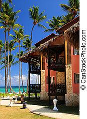 Tropical resort on ocean shore - Luxury tropical resort on...