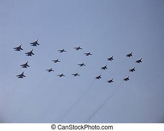 figura, 100, niebo, wojskowy, wojownicy