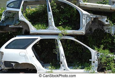 Automobile morgue cars frames