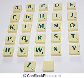 Scrabble Letters - The Alphabet of Scrabble Letters