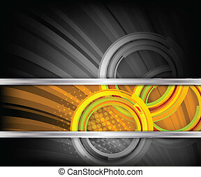 Bright background with circles