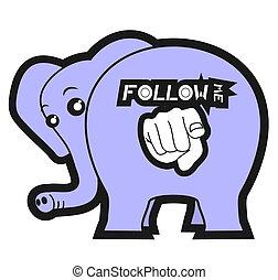 Follow me animal