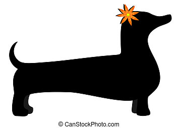 Nice dog - Illustration of nice vector dog