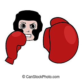 Boxing man - Illustration of vector boxing man