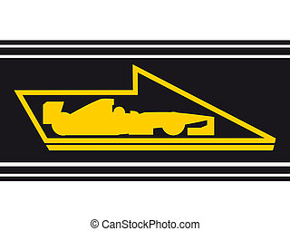 Arrow sign - Design of racing arrow sign