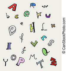 Alphabet design - Creative design of alphabet art