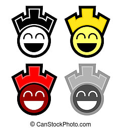 Four happy faces - Creative design of four happy faces