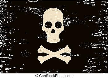Skull flag - Creative design of skull flag