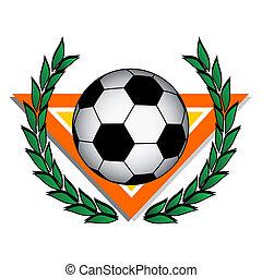 Winner soccer emblem