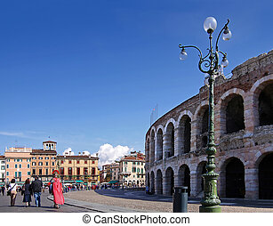 Amphitheater in Verona - Amphitheater at the Piazza Bra in...