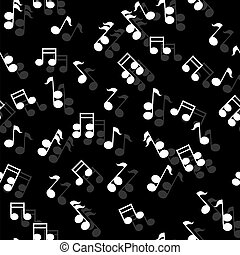 Vector seamless music pattern. Eps 10