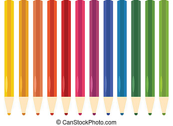 Colorful Pastel, Crayons set isolated on white