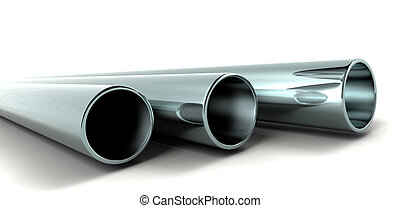 3d pipes - clean new metal 3d pipes
