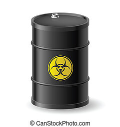 Biohazard barrel - Vertical Biohazard black barrel...