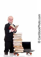 Internet library dwarf surfing - Little man, dwarf...