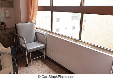 chair in hospital room