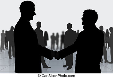 Business meeting Business people shaking hands