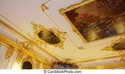 ceiling in Pushkin St Petersburg Russia