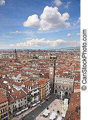 View over the Piazza delle Erbe in Verona