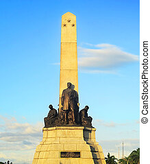 Rizal monument in Rizal park in Manila. The monument was...