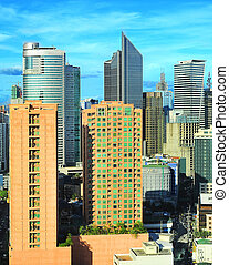Makati city - Aerial view on Makati city - modern financial...