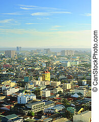 Manila skyline - Aerial view on Metro Manila, Philippines