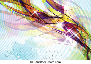 Abstract Colorful Background - Abstract colorful flow on...