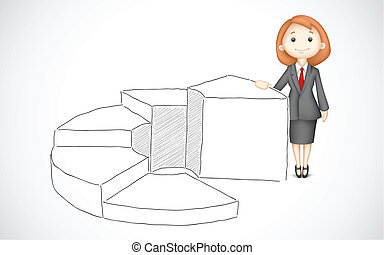 Business Lady giving presentation