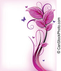 Floral pink background Vector - Blur abstract background...