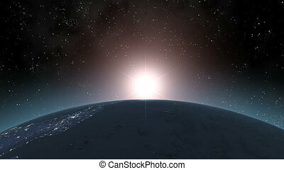 Earth (Highend) Sunrise Horizon - Sunrise horizontal over...