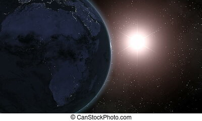 Earth (Highend) Sunrise Over Africa