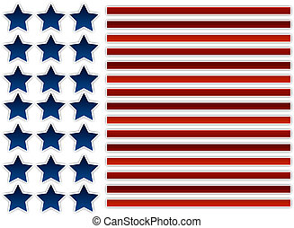 Abstract American Flag Illustration