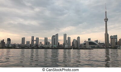 Toronto skyline during sunset - Toronto skyline viewed from...