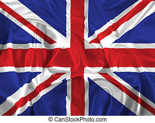 Union Jack Flag - Union Jack flag with folds and creases