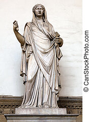 Ancient Roman sculpture of a Vestal Virgin