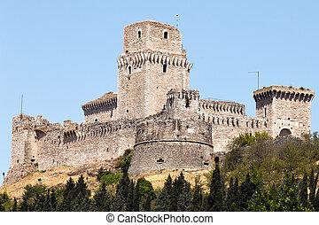 Fortress Rocca Maggiore in Assisi, Italy