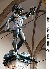 Perseus with the Head of Medusa - Statud of Perseus with the...