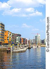 famous Hafencity nord in the Speicherstadt in Hamburg