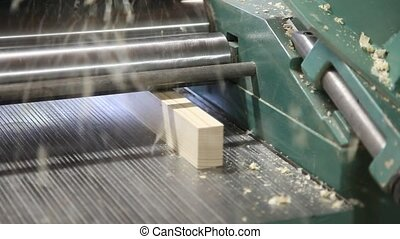Lumber industry - Wood Thickness Planer Machine