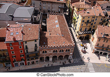 Historic Houses at the Piazza delle Erbe in Verona -...