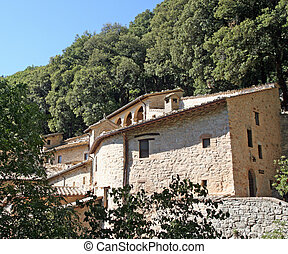 Convent Eremo delle Carceri of St Francis in Assisi -...