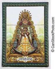 The Virgen del Rocio - Madonna of El Rocio - in Almonte,...